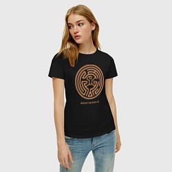 Футболка хлопковая женская Westworld labyrinth цвета черный — фото 2