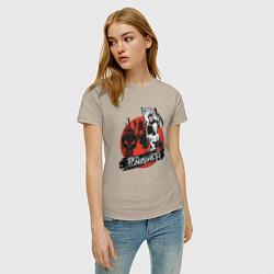 Футболка хлопковая женская The Punisher цвета миндальный — фото 2