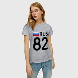 Футболка хлопковая женская RUS 82 цвета меланж — фото 2