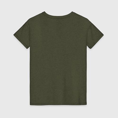 Женская футболка Soul Eater: White / Меланж-хаки – фото 2